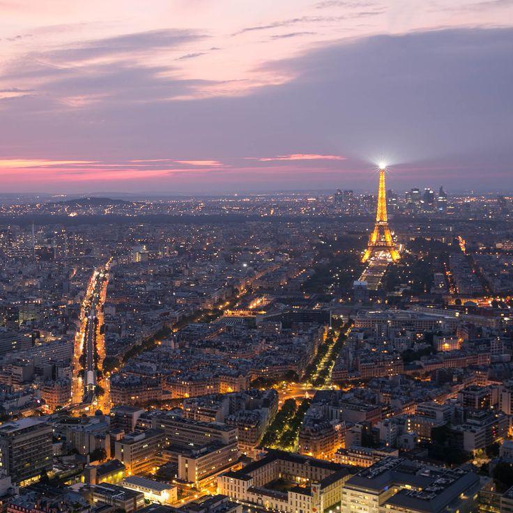 Coucher de soleil à Paris! Heure bleue