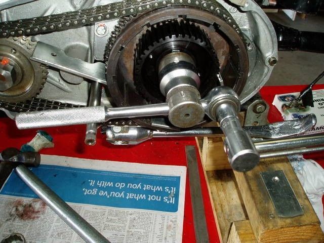 """Torque Wrench Lever by Hopper -- Homemade torque wrench lever arrangement intended to adapt a 3/4"""" drive socket for utilization with a 1/2"""" drive torque wrench. http://www.homemadetools.net/homemade-torque-wrench-lever"""