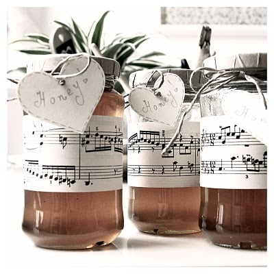 Music teacher gift: could be filled with candy, tea bags, ingredients to bake or cook something, or notes from students etc.
