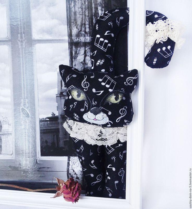 Купить Музыкальные котёнки - черно-белый, черный, белый, котенок, кошка, кот, музыкальный, музыка