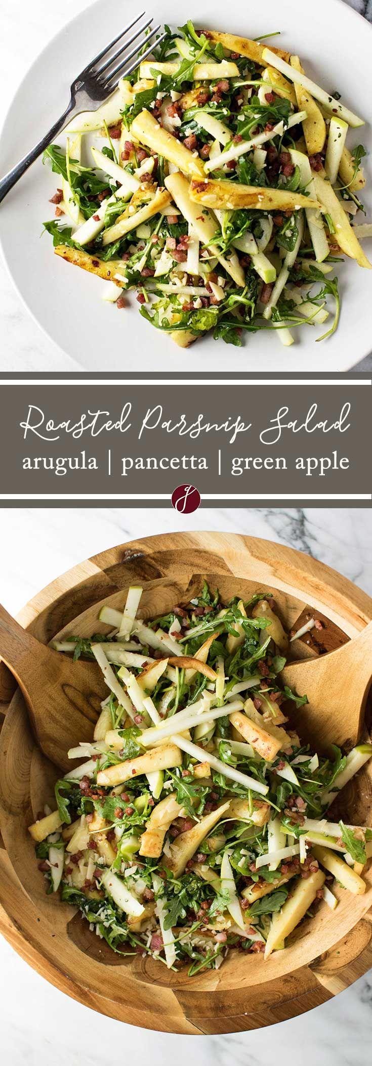 Roasted Parsnip Salad via @april7116