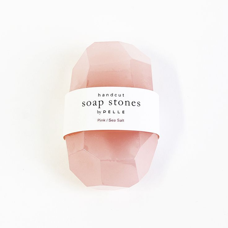 by Pelle This special edition Soap Stone is pale petal pink, frosty or transparent, with Himalayan sea salt. Its scent is like fresh outdoor sea air - crisp and slightly woodsy. Drawing from a materia