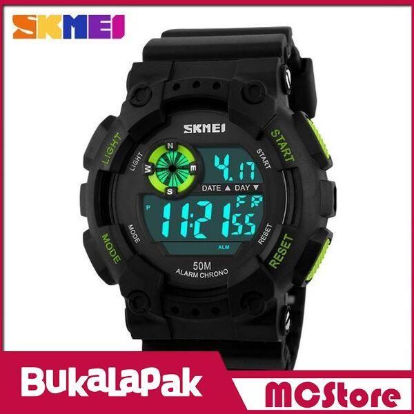Beli MCStore Jam Tangan Pria SKMEI Military Sport Watch Water Resistant 50m - DG11011 - Black/Green dari MCStore habibwaldani - Jakarta Barat hanya di Bukalapak
