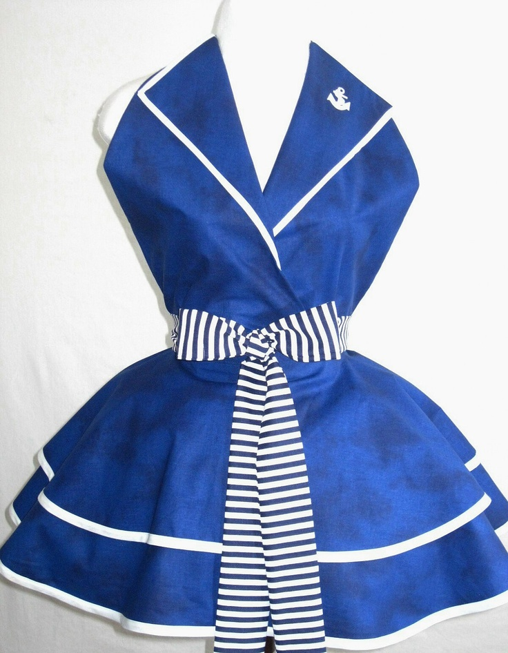 Sexy Navy Pin Up Girl Sailor Costume Apron