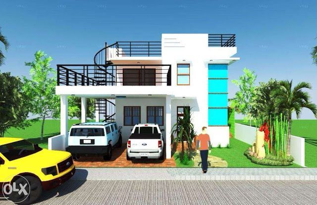 House Plans With Roof Deck Terrace In 2020 House Roof Design 2 Storey House Design House Roof