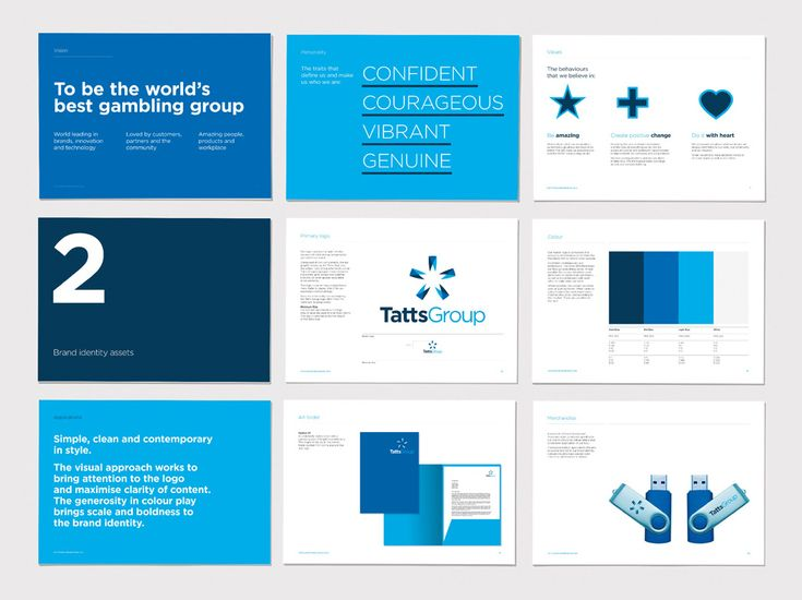 Manual corporativo de la marca Tatts Group, diseñado por Hulsbosch #manual #corporativo #brandgourmet