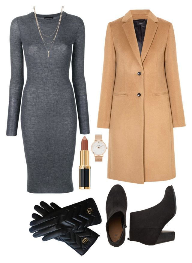 """Winter is Coming"" by saffaatun on Polyvore featuring Joseph, Cashmere in Love, Balmain, CLUSE and Gucci"