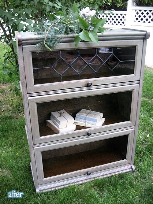 Face lift gives this cabinet charm.very nice could easily be made into a beautiful bookcase.