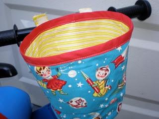 Tutorials Crafts Projects Kids Children Handmade: Fabric Bike Basket-Adventure in Troubleshooting