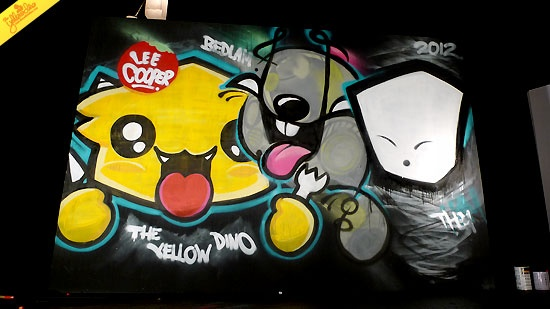 Lee Cooper Graffiti on Denim By The Yellow Dino