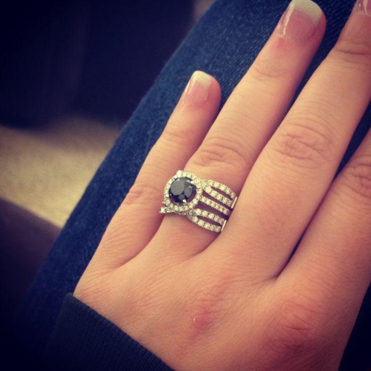 Wedding ring! Black diamond engagement ring