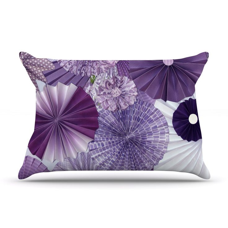 "Heidi Jennings ""Lavender Wishes"" Purple Pillow Case"