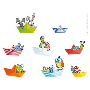 Vinilo pequeños barcos