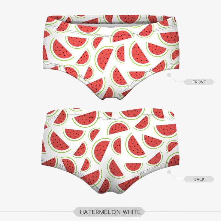 Popular Seamless 3d Underwear Short Briefs watermelon Print Red Lingerie Mujeres Panties Underwear Panty Girls Knickers ROK1016