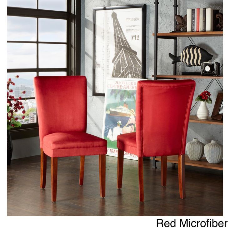 Tribecca Home Parson Classic Upholstered Dining Chair (Set of 2) (