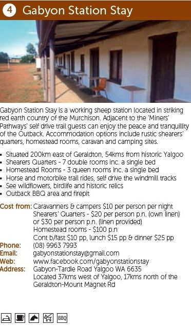 Gabyon Station Stay, more information: http://www.australiasgoldenoutback.com/Listing/Gabyon_Station_Stay