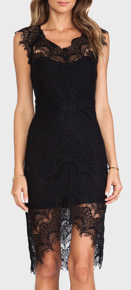 Free People Peek-A-Boo Slip Dress in Black -soooo cute  if I could just live in a diff state and come into a lot of money that would be awesome.