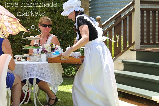 Snippet of experiencing high tea at the Love Handmade markets, Redcliffe Queensland, Australia.