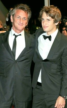 Sean Penn and son Hopper Penn (named for his friend Dennis Hopper)