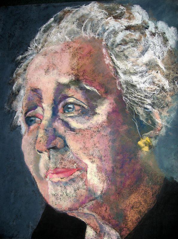 Mélanie Klein .Soft pastel on paper