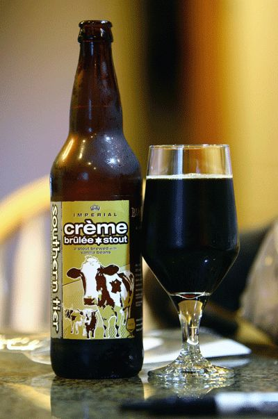 Southern Tier Creme Brulee Stout. It's more dessert in a glass with beer overtones than beer. Even so I look forward to it every year.