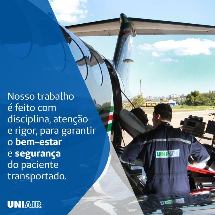 A remoção aeromédica envolve diversos passos e procedimentos, conheça um pouco mais sobre o dia a dia da Uniair e como cuidamos de nossos pacientes!