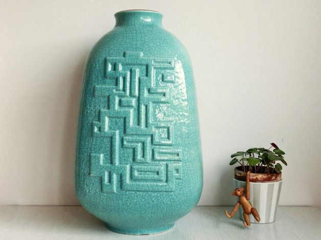 Vintage Vasen - RaRe XL Vase von Carstens Keramik Form 70-40 - ein Designerstück von OberSchick bei DaWanda