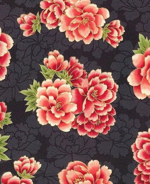 NEW  Robert Kaufman  Imperial Collection 13  Peony Infusion