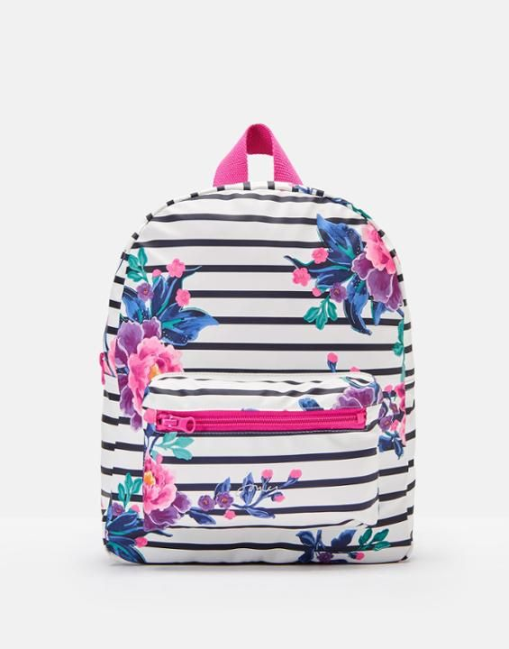 0fc2fdf970 Joules US Adventure Girls Printed Rubber Backpack CHINOISE STRIPE ...