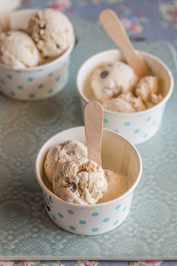 helado de platano nueces