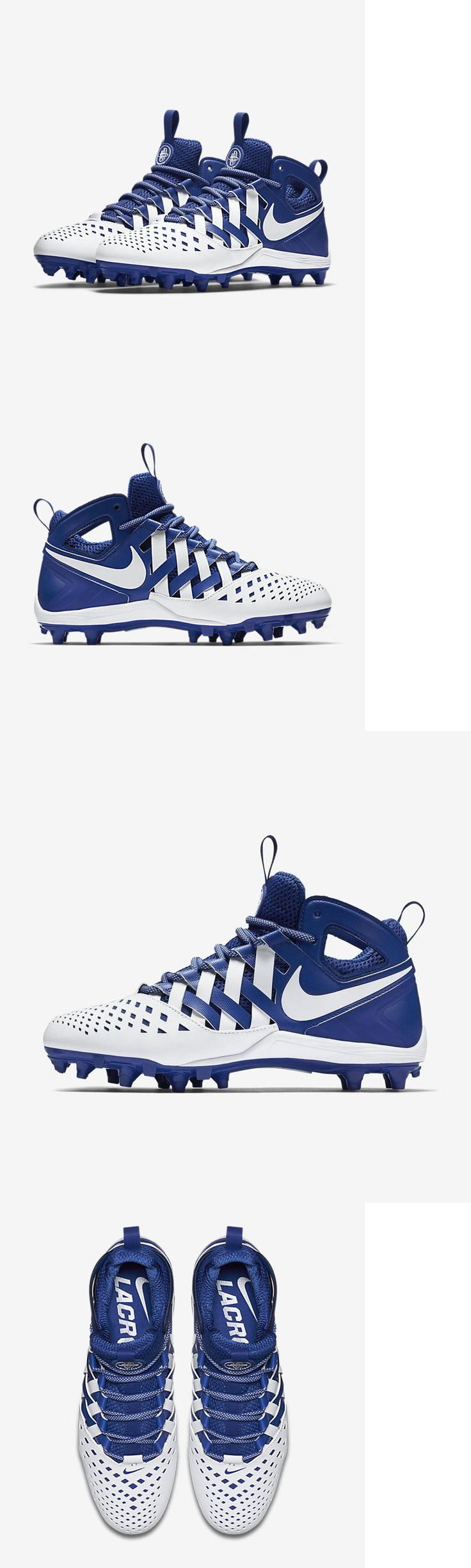 Footwear 159154: New! $100 Nike Huarache V Lacrosse Cleats Royal Blue And White Men S Size 9 -> BUY IT NOW ONLY: $44.99 on eBay!