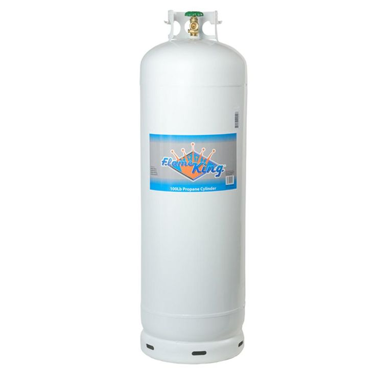 Flame king 100 lbs empty propane cylinder with pol valve