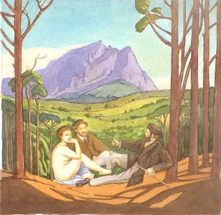 Carl Becker chats to Pierneef