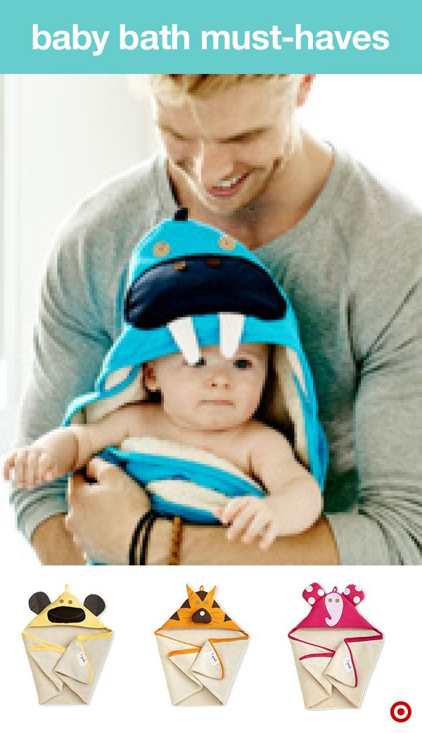 Wrap your baby in plush, cozy softness after trips to the beach, pool or bath time. A Target Baby Registry must-have, hooded towels are ultra-absorbent and cute. The 3 Sprouts hooded towels are available in fun, colorful animal designs, including a walrus, monkey, tiger, elephant and more. TIP: Having more than one allows you to designate which towel gets brought to the beach or pool, and which is only for bath time.