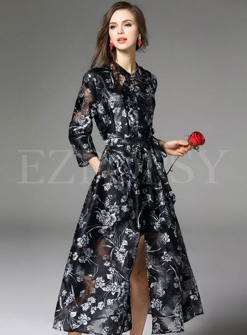 Shop for high quality Fashion Jacquard Silk-Like Maxi Dress online at cheap prices and discover fashion at Ezpopsy.com