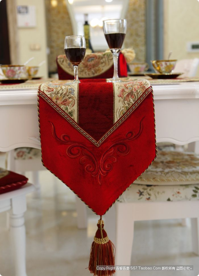 gold luxury items | Fashion-table-runner-luxury-bed-flag-gold-embroidered-luxury-placemats ...