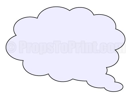 Printable thought cloud photo booth prop create diy props for Templates for photo booth props
