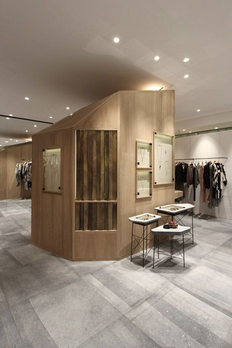 Ciguë builds a wooden cabin in the middle of Isabel Marant's Shanghai boutique. #Shanghai #DesignShanghai