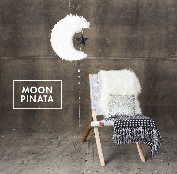 Make a moon-shaped piñata.   51 DIY Ways To Throw The Best New Year's Party Ever
