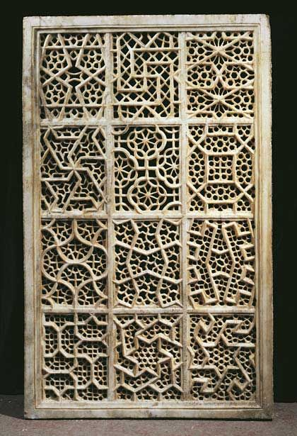 Beautiful Jali Screen From Agra India Islamic Geometric