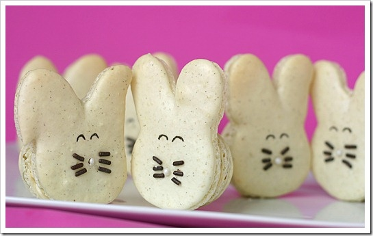 French Macarons - in the shape of Bunnies for Easter: French Macaron, Macaron Mad
