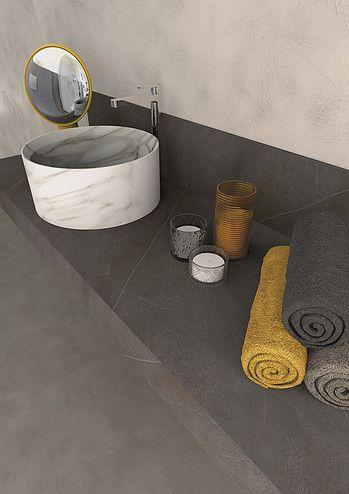 Marmi Serafini Orlando Consolle round wash basin marble grey modern interior design