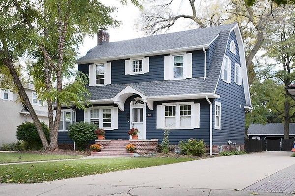 The Dutch Colonial home plan is a variation of the Colonial style. Defining characteristics of a Dutch Colonial home are the flared eaves and/or gambrel roof form, similar to a barn roof.