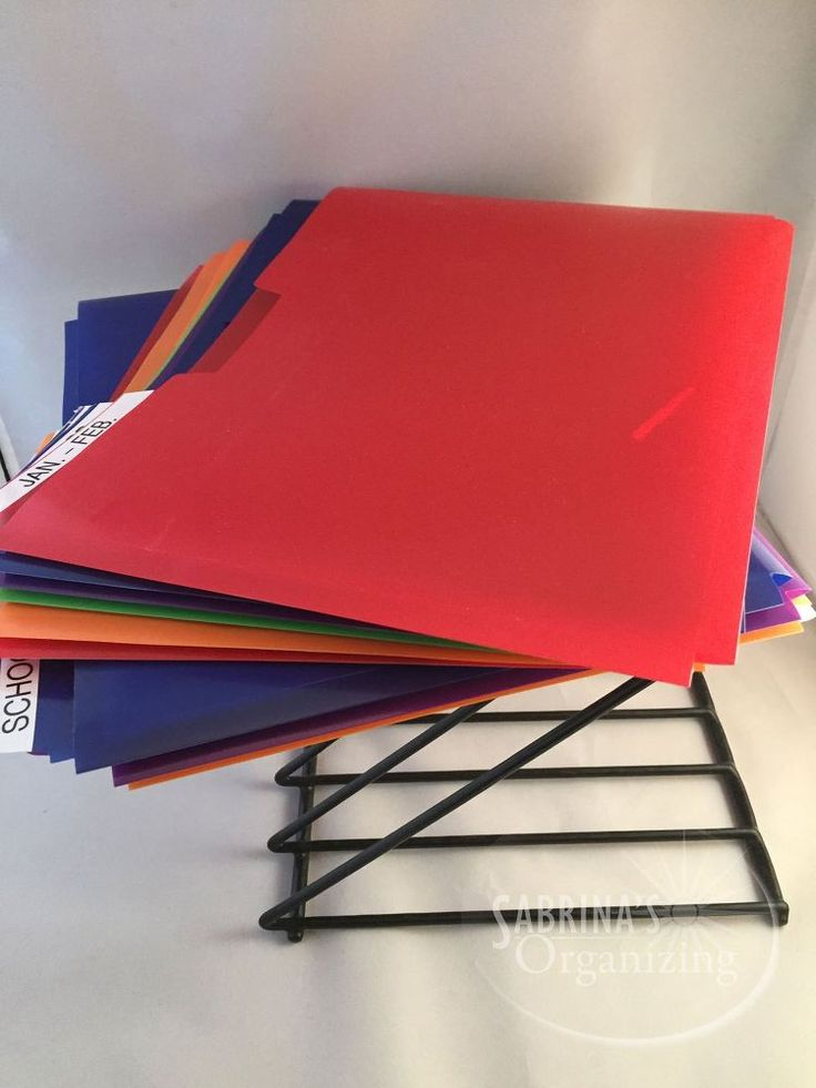 DIY Kitchen Paper Management System To Clear The Clutter