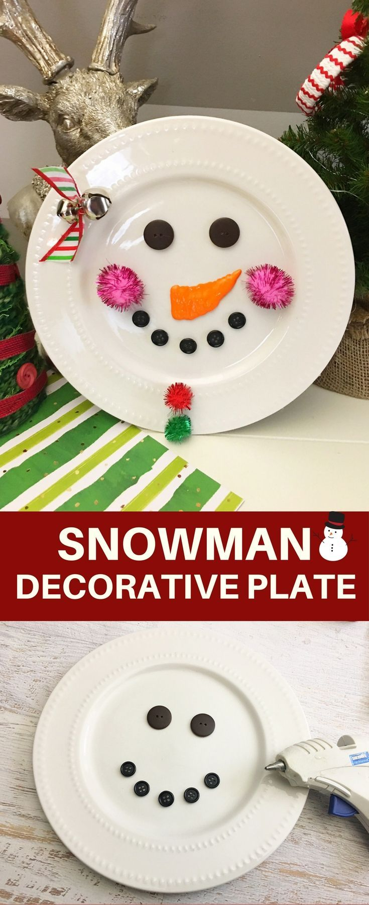 DIY Snowman Decorative Plate Best 1207 christmas