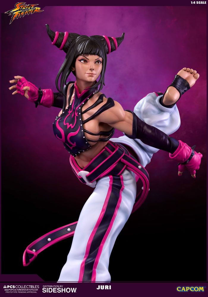 The Juri Ultra Statue by Pop Culture Shock is available at Sideshow.com for fans of Street Fighter IV and video game collectibles.