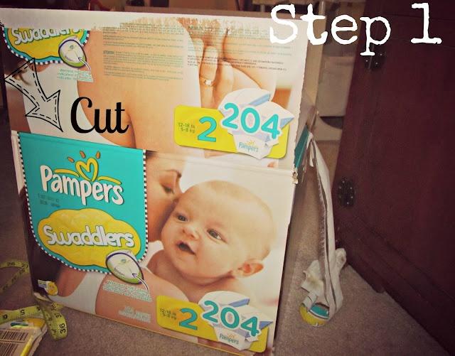 Fabric Covered Diaper Box good tutorial