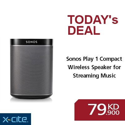 Sonos Play 1 Compact Wireless Speaker for Streaming Music - Black available online and in our showrooms for 79.900KD  #xcite #q8 #sonos #online #showrooms  http://www.xcite.com/audio-mp3/portable-audio/sonos-play-1-compact-wireless-speaker-for-streaming-music-black.html