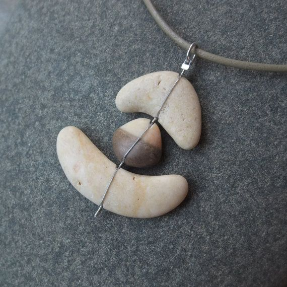 Beach stone necklace  Natural stone jewelry by NaturesArtMelbourne, $47.00