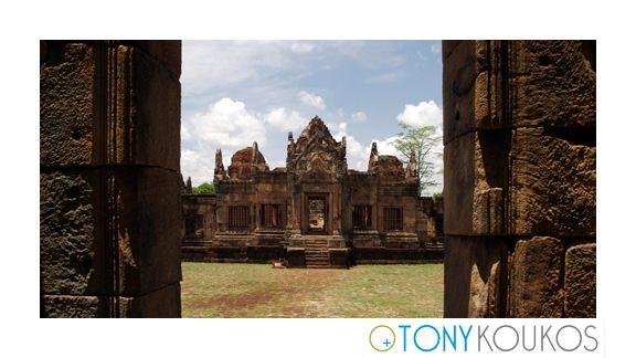 thailand, temple, architecture, Phanom Rung, Phimai Rung, bas-reliefs, stone, spiritual, hindu, doorway, frame, masonry, steps
